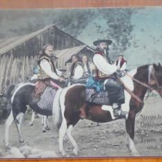 Hutuli din Bucovina, ilustrata color editata de austrieci la inceputul sec. 20 - Carte Postala Bucovina pana la 1904, Necirculata, Printata