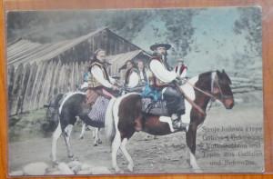 Hutuli din Bucovina , ilustrata color editata de austrieci la inceputul sec. 20