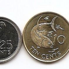 Seychelles Set 5 - 1, 5, 10, 25 Cents, 1, 5 Rupees 2003/10 - UNC !!!, Africa