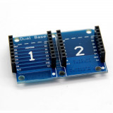 Placa de dezvoltare pentru ESP8266  Dual Base Shield For Wemos D1 Mini IOT Blynk