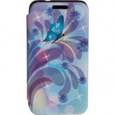 Husa Flip Cover Tellur Folio pentru Samsung J1 Mini Butterfly 2 - Husa Telefon Tellur, Piele Ecologica, Cu clapeta