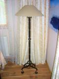 Lampadar, veioza podea, stil medieval, Elvetia, vintage