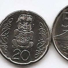 Noua Zeelanda Set 5 - 5, 10, 20, 50 Cents, 1 $ 2000/06 - UNC !!!, Australia si Oceania