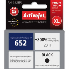 Cartus compatibil HP 652 XL pentru HP, 20 ml, 720 pag, Negru, Premium Activejet, Garantie 5 ani