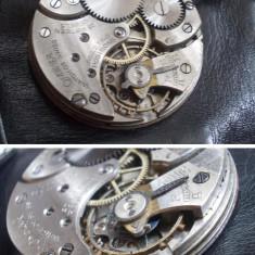 Mecanism ceas de buzunar Calibru Omega 40.6l T1, 15 Jewels, anii '30, functional - Ceas de buzunar vechi