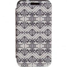 Husa Flip Cover Tellur Folio pentru Samsung J1 (2016) Alb/Negru - Husa Telefon Tellur, Piele Ecologica, Cu clapeta