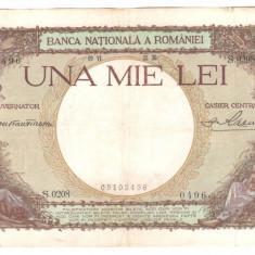 SV * Romania 1000 LEI 1936 Regele Carol II +/- XF vezi detalii ! - Bancnota romaneasca