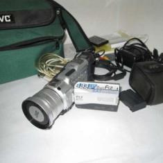 Camera video foto JVC GR-DV3000U Semi profesionala FULL 4 baterii, Peste 4 inch, Card Memorie, Peste 40x
