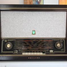 Radio lampi Philips Capella 643, complet restaurat - Aparat radio
