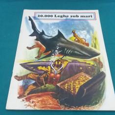 CARTE DUBLĂ:20.000 LEGHE SUB MĂRI *ALI BABA ȘI CEI 40 DE HOȚI/1980 - Carte de povesti