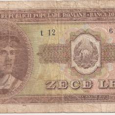ROMANIA 10 LEI 1952 F - Bancnota romaneasca