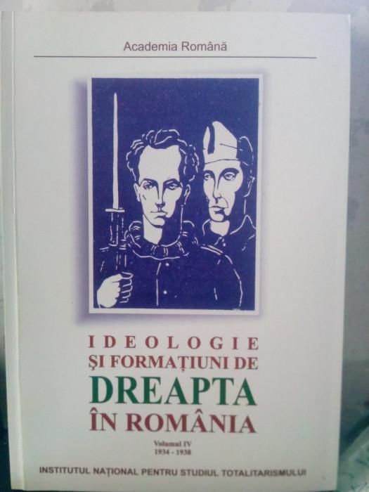 IDEOLOGIE ȘI FORMAȚIUNI DE DREAPTA IN ROMÂNIA VOL 4 2003 MIȘCAREA LEGIONARĂ 448P foto mare