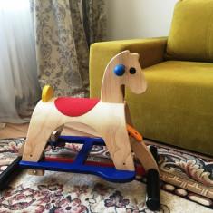 Baloansoar din lemn - Calut Plan Toys Lusitano - Balansoar interior Plan Toys, Multicolor