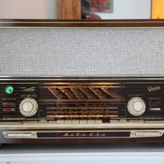 Radio lampi Graetz Melodia 619, complet restaurat - Aparat radio