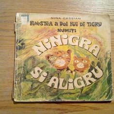 POVESTEA A DOI PUI DE TIGRU - Nina Cassian - Ilustratii: Ligia Macovei - 1969