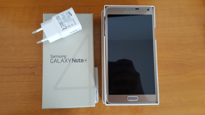 Samsung galaxy Note 4 Gold foto mare