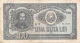 ROMANIA 100 LEI 1952 F