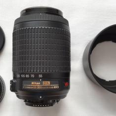 Obiectiv DSLR Nikon Nikkor AF-S 55-200 4-5.6 G ED VR + filtru CPL 52mm