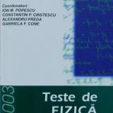 Teste de fizica de Ion Popescu - Culegere Fizica
