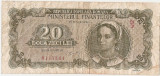ROMANIA 20 LEI 1950 F