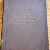 Carte veche in limba maghiara -  inginerie mecanica 1910