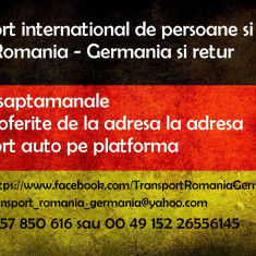 Transport persoane si colete Romania - Germania si retur