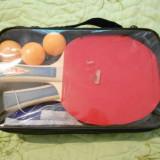 Vand Set palete ping pong tenis de masa + fileu + 3 mingi - Paleta ping pong
