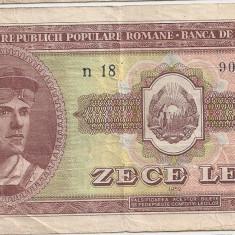 ROMANIA 10 LEI 1952 VF - Bancnota romaneasca