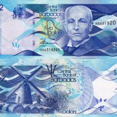 BARBADOS 2 dollars 2013 UNC!!! - bancnota america