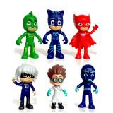 6 jucarii eroi in pijama eroi in pijamale mascote pj masks pisoi bufnita sopi - Figurina Animale