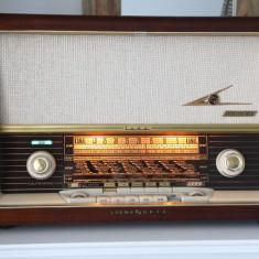 Radio lampi Loewe Opta Luna 3741W, complet restaurat - Aparat radio