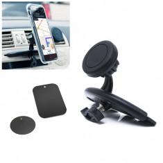 Suport magnetic auto pentru telefon sau tableta, cu prindere in fanta CD-ului
