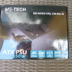 Sursa pc modulara Ms-tech 550w nemteasca