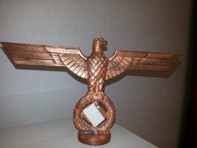 Statueta veche,metalica,,germana,vulturul cu svastica foto