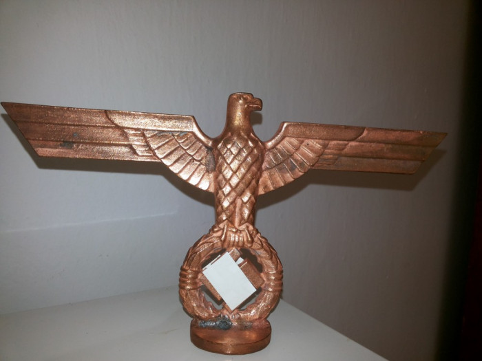 Statueta veche,metalica,,germana,vulturul cu svastica