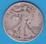(1) MONEDA DIN ARGINT SUA - HALF DOLLAR 1942, FARA LITERA, WALKING LIBERTY, America de Nord