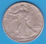 (3) MONEDA DIN ARGINT SUA - HALF DOLLAR 1942, FARA LITERA, WALKING LIBERTY, America de Nord