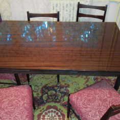 Mobila Sufragerie: Set masa 12 persoane + 6 scaune - Set mobila living