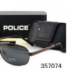 Ochelari De Soare Polarizati - POLICE - P8455  - Protectie UV 100% -  Model 1, Barbati, Protectie UV 100%