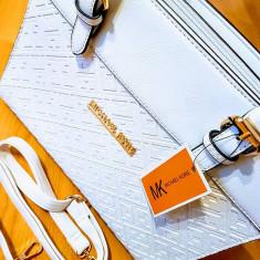 GENTI MICHAEL KORS NEW MODEL/FERMOARE METALICE LATERALE/SUPER CALITATE - Geanta Dama Louis Vuitton, Culoare: Alb, Marime: One size
