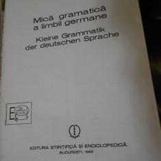 EMILIA SAVIN--MICA GRAMATICA A LIMBII GERMANE - 1985 - Curs Limba Germana