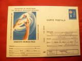 Carte Postala ilustrata Crucea Rosie - Sanatate , Munca, Pace ,cod 103/86, Necirculata, Printata