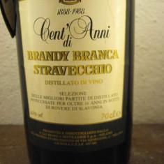 UNA SUTA ANI - brandy branca STRAVECCHIO - 1888-1988- cl 70, gr 42 STICLA 013989 - Cognac