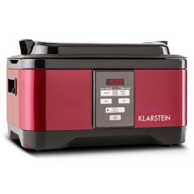 Klarstein Tastemaker Sous-Vide Garer, 550 W, 6 l, vas lent, oțel inoxidabil, roșu foto