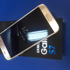 Samsung Galaxy S7 32gb Gold Full box Facutea+garantie - Telefon Samsung, Auriu, Neblocat, Single SIM