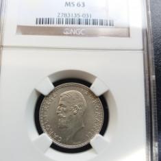 1 LEU 1910 - NGC MS 63 - Moneda Romania, Argint
