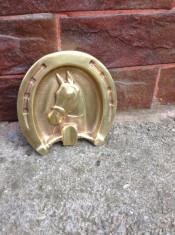 Scrumiera din bronz -Potcoava/Cal !!! foto