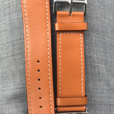 Curea piele naturala maro Apple Watch 42 mm Hermes - Curea ceas piele