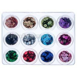 Set nail art, 12 buc - flori cu gaura foto