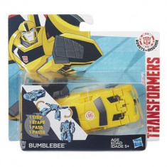 Jucarie Transformers Robots In Disguise 1-Step Changers Patrol Mode Bumblebee Hasbro